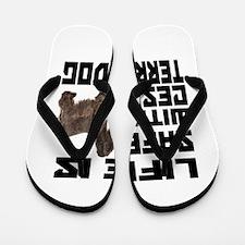 Life Is Safe With A Cesky Terrier Flip Flops