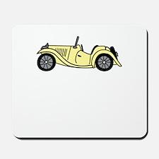 Cream MGTC Car Cartoon Mousepad