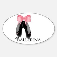 Ballerina Shoes 2 Oval Decal