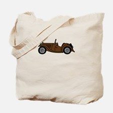 Brown MGTC Car Cartoon Tote Bag