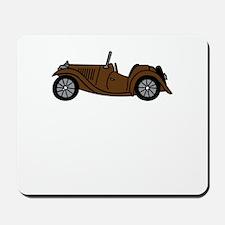 Brown MGTC Car Cartoon Mousepad