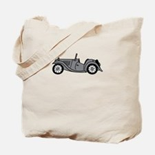 Silver Gray Grey MGTC Car Cartoon Tote Bag