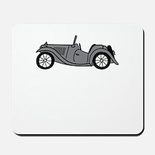 Silver Gray Grey MGTC Car Cartoon Mousepad