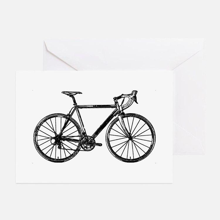 Road Bike Greeting Cards