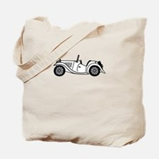 White MGTC Car Cartoon Tote Bag