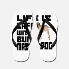 Life Is Safe With A Bullmastiff Flip Flops