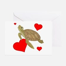 Valentine Sea Turtle Greeting Cards