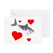 Valentine Shark Greeting Cards