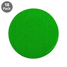 """Green Linen Look 3.5"""" Button (10 pack)"""