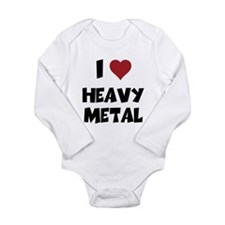 I Love Heavy Metal Baby One Piece Body Suit