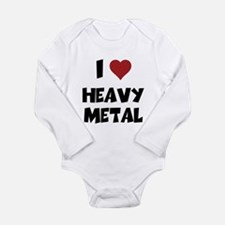 I Love Heavy Metal Baby One Piece Body Suit