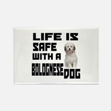 Life Is Safe With A Bo Rectangle Magnet (100 pack)