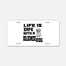 Life Is Safe With A Bologne Aluminum License Plate