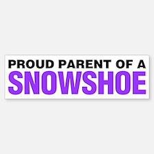 Proud Parent of a Snowshoe Bumper Bumper Sticker