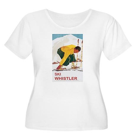 Ski Whistler BC Women's Plus Size Scoop Neck T-Shi
