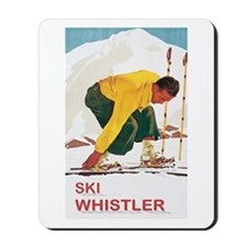 Ski Whistler BC Mousepad