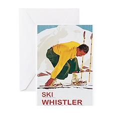Ski Whistler BC Greeting Card