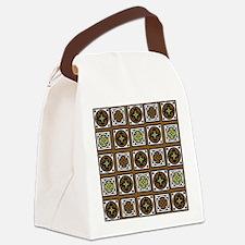 Aztec Brown Quilt Canvas Lunch Bag