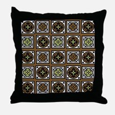 Aztec Brown Quilt Throw Pillow