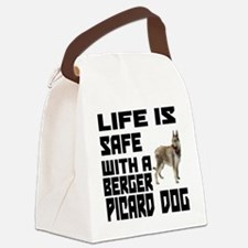 Life Is Safe With A Berger Picard Canvas Lunch Bag