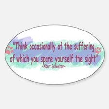 Think Occasionally-2 Oval Decal