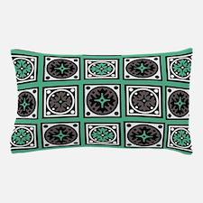 Green Crazy Quilt Pillow Case