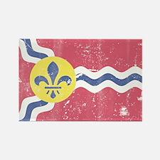 Vintage Grunge Flag of St Louis Missouri Magnets