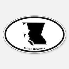 British Columbia Canada Outline Oval Bumper Stickers