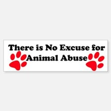 No Excuse-red Bumper Bumper Bumper Sticker