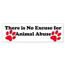 No Excuse-red Bumper Bumper Sticker