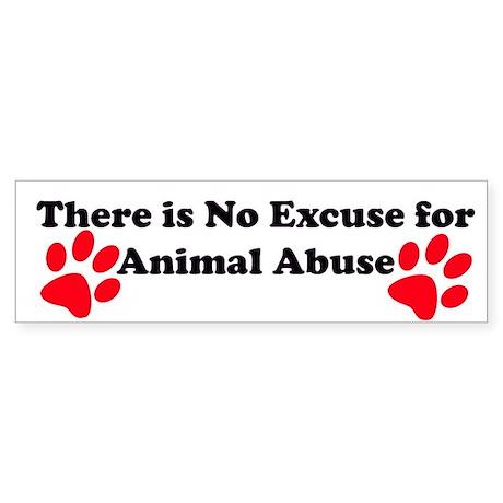 No Excuse-red Bumper Sticker