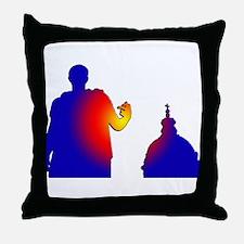 Caesar and the Church Throw Pillow