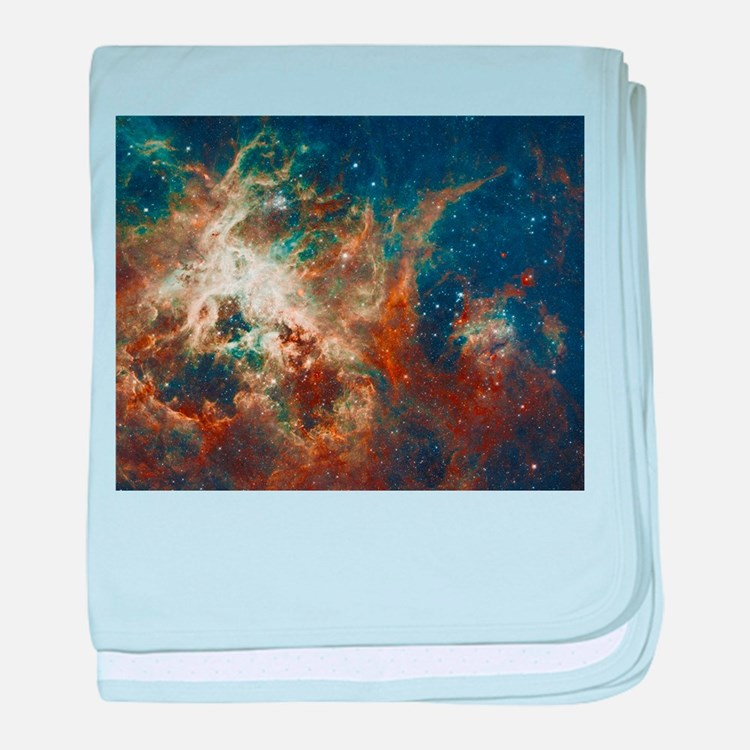 Tarantula Nebula Galaxy baby blanket