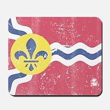 Vintage Grunge Flag of St Louis Missouri Mousepad
