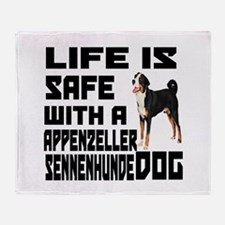Life Is Safe With A Appenzeller Senn Throw Blanket
