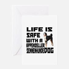 Life Is Safe With A Appenzeller Senn Greeting Card