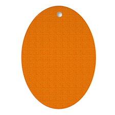 Orange Satin Look Ornament (Oval)