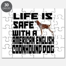 Life Is Safe With A American English Coonho Puzzle