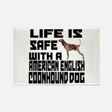 Life Is Safe With A American Engl Rectangle Magnet