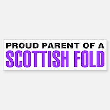 Proud Parent of a Scottish Fold Bumper Bumper Sticker