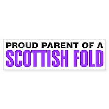 Proud Parent of a Scottish Fold Bumper Sticker