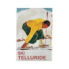 Ski Telleuride Co Rectangle Magnet