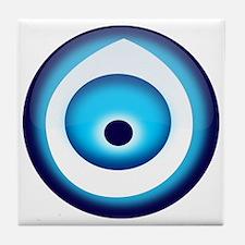 Blue Evil Eye Tile Coaster