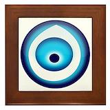 Turkish evil eye Framed Tiles