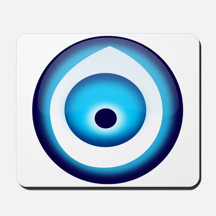 Blue Evil Eye Mousepad
