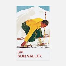 Ski Sun Valley Idaho Rectangle Decal