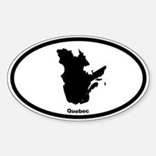 Quebec Canada Outline Oval Bumper Stickers