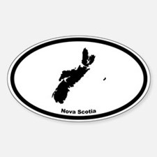 Nova Scotia Canada Outline Oval Decal