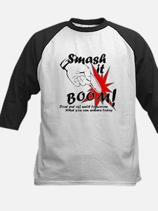 Smash it Boom Achieve Today dark Baseball Jersey