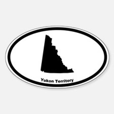 Yukon Territory Canada Outline Oval Bumper Stickers